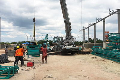 Indonesian NPK Fertilizer Production Line Installation Site
